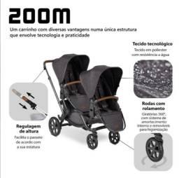 Título do anúncio: Carrinho Gemelar Zoom abc Design
