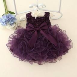 Vestido Vinho De Princesa