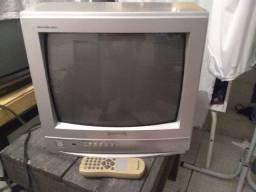 TV 14 polegadas Panasonic com controle remoto original de fábrica e imagem perfeita