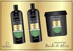 Kit de Óleos vegetais para cabelo