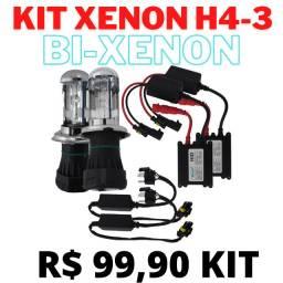Kit BI Xenon H4-3 Alta e baixa
