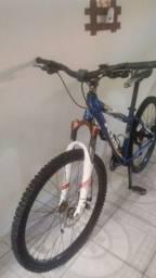 Título do anúncio: Bicicleta quadro 26 de alumínio todo Shimano freio a disco amortecedor dianteiro