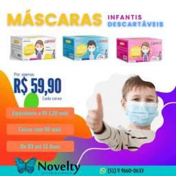 Máscaras Infantis Descartáveis