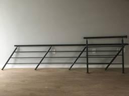 Corrimão e guarda-corpo de alumínio com pintura eletrostática (NOVO)