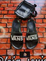 Kit chinelo + bag Vans