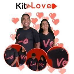 Kit Love 2 Camisetas Dia dos Namorados