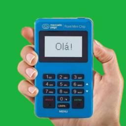 Máquina de cartão com chip 4g+wi-fi mercado pago