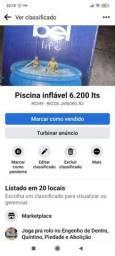 Piscina inflável 6,200 l