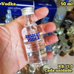Miniatura Vodka Absolut Sueca - 50ml - Original, Lacrada e Licenciada