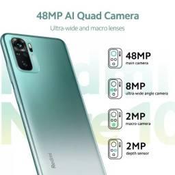 Xiaomi Redmi Note 10 Lacrado!!! + 2 Capas + 2 películas 9D +  2 Lentes Câmera