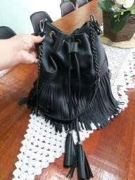 Bolsa linda couro legítimo