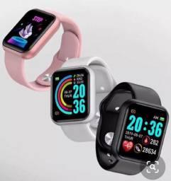 Relógio inteligente-Smartwatch Y68 D20 Atualizado Coloca Foto na Tela - App Fit Pro-