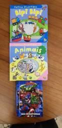 Título do anúncio: 3 Livros Infantis: Feltros Divertidos (Animais e Bip Bip) e Vingadores