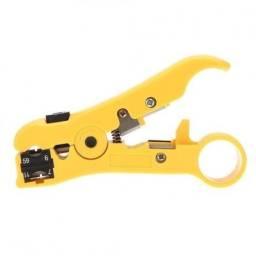 Alicate Decapador Universal De Cabos Utp Stp Amarelo Ht-310
