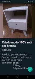 Criado Mudo 100 % mdf Por 85,00  cada ou par por R$ 160,00