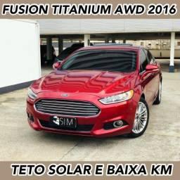Título do anúncio: Ford Fusion Titanium AWD 2.0 Turbo - Com Teto - Baixa Km - 2016