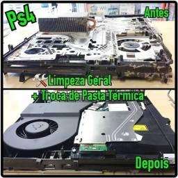 Limpeza e manutenção PS4/Xbox