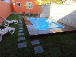 Título do anúncio: linda Casa em Cordeirinho, 2 qts, suíte, Piscina e Churrasqueira. P/ Temporada. tudo a pé.
