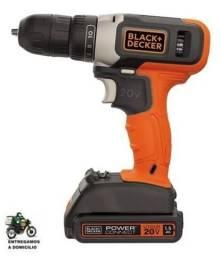 Furadeira 3/8 Bateria 20v Black+Decker - Bcd702c1
