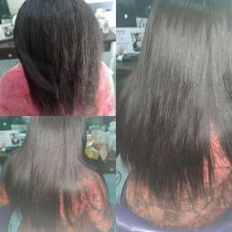 Aplicação mega hair