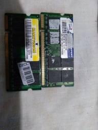 Título do anúncio: 2 memórias  DDR 2 de notebook bem conservada