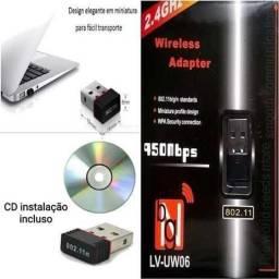 Título do anúncio: Adaptador Wireless Usb Wifi 900mbps 2.4ghz - para PC ou Notebook