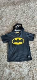 Camisa Batman com capuz - kids