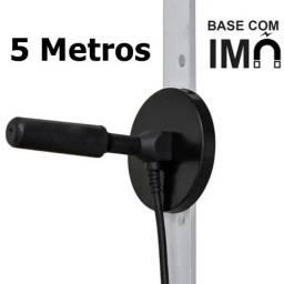 Antena Interna Externa Cabo 5 Metros Hdtv Conversor Digital