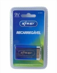 Bateria Recarregável 9v 450mah Kp-bt9v Knup