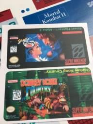 Título do anúncio: Labels adesivos para cartuchos Snes Mega N64 Master Atari
