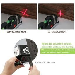 Nível a Laser com Trena 2,5m Nível com 3 pontos LuaTek