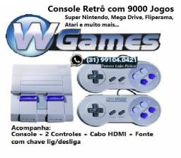 Console Retrô Raspberry Pi3 Snes Mini Super Nintendo. 9000 Jogos, Whatsapp 991040421