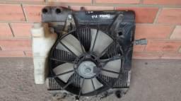 Conjunto radiador e ventoinha do Honda fit 07