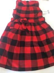 Vestido Carters Infantil Menina Tam 4-5anos