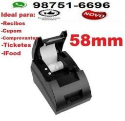 Impressora Térmica p/ cupom não fiscal Ifood, tickets Comprovantes-Entrega Grátis