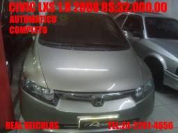Honda Civic LXS 1.8, Automático, 2008, Muito novo, aceito troca e financio - 2008