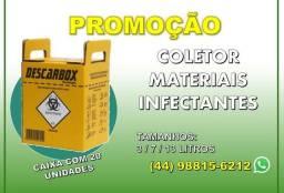 Coletor de materiais Infectantes e Perfurocortante / Caixa com 20 unidades