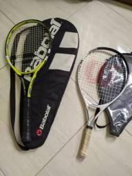Raquetes de tênis Wilson e Babolat