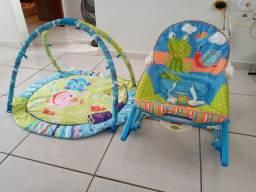 Cadeira balanço mais tapete