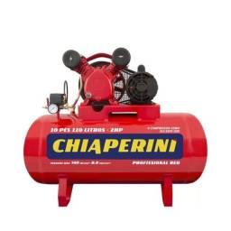 Compressor de ar 10 pés 110 litros 2 hp 140 lbs - 10/110 RED Trifásico