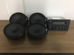 Kit Rádio Honda Fit Original Com 4 Auto falantes