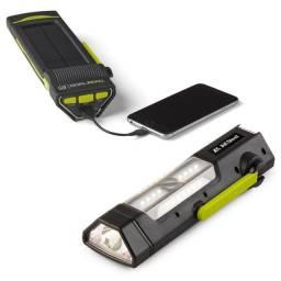 Carregador Portátil Com Placas Solares E Lanterna Goal Zero