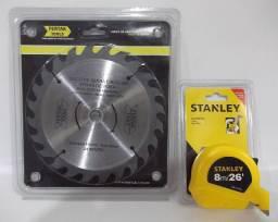 Trena Métrica Stanley 8 metros e Lâmina para Serra Circular R$ 50,00