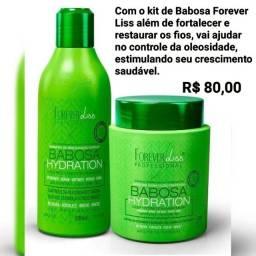 Produtos Forever Liss- Banho de verniz e kit babosa
