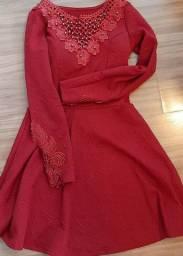Título do anúncio: Vestido de festa bordado tamanho 16 anos