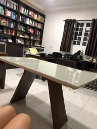 Título do anúncio: Mesa para sala com tampo de vidro