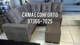 Título do anúncio: ENTREGA GRÁTI$$ !! SOFÁ DE CANTO + PUFF 10 X 89,90!!