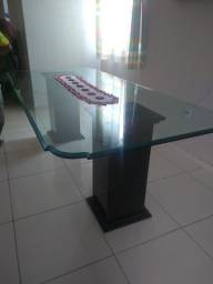 Vendo mesa de jantar vidro e mármore