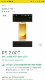 Celular Samsung Galaxy j7 pro dourado