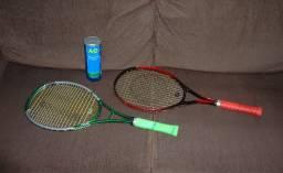 Kit Para Jogar Tênis 2 Raquetes Bolas wilson e Bolsa Raqueteira Wilson